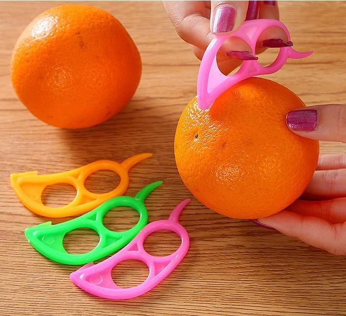 10pcs Cooking Tools Peeler Parer Finger Type Open Orange Peel Orange Device Kitchen Gadgets Dropshipping