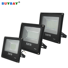 BUYBAY 브랜드 100W 홍수 조명 LED 220V 10W 30W 200W 야외 Led 빛 반사판 램프 150W 투광 조명 Projecteur Led Exterieur