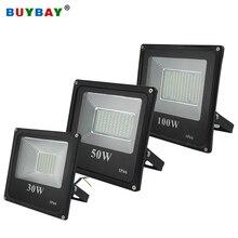 BUYBAY marka 100W iluminacyjne światła LED 220V 10W 30W 200W zewnętrzna lampa Led odbłyśnik 150W projektor reflektor Led Exterieur