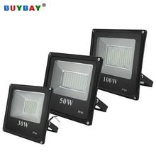 Buybay holofote led 100w, 220v, 10w, 30w e 200w, luz exterior, refletor projetor de holofote de 150w led exterior eur