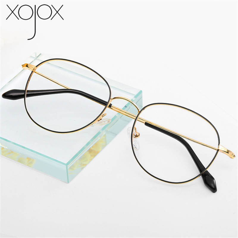 XojoX Fashion Reading Glasses Women Classic Metal Frame Oval Hyperopia Prescription Glasses Diopter +1.0 +1.5 +2.0 +2.5 +3.0 3.5
