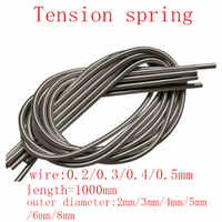 1pc/lot wire 0.2mm 0.3mm 0.4mm 0.5mm 1 meter Stainless Steel Tension Spring Extension Spring Out Dia 2mm/3mm/4mm/5mm/6mm/8mm