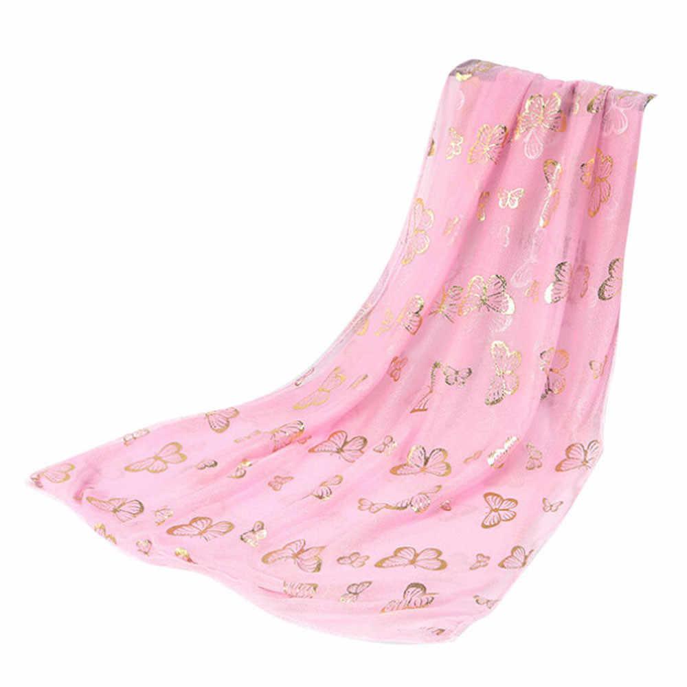 Женский шарф с бабочкой Длинный мягкий шарф шаль, палантин из пашмины женский осенне-зимний шарф бандана пряжа Женская пончо накидка шрам # R15