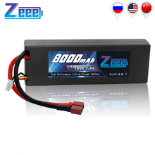 Zeee 2S RC Lipo Battery Hardcase 7.4V 100C 8000mAh RC Battery Charger Deans Plug for RC Car Truck Boat Helicopter FPV RACING цена