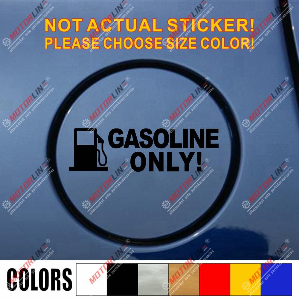 Gasoline Only Oil Warning Fuel Cap Vinyl Car Decal Bumper Sticker 12cm Long