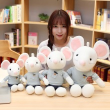 цена на Couple Mouse Rat Plush Toys Rat Plush Toys Super Cute Plush Toy Cartoon Mouse Couple Rat Stuffed Doll Birthday Christmas Gift