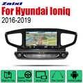 Android player multimídia do carro para hyundai ioniq híbrido 2016 2019 gps sistema de navegação rádio estéreo 2 din automóvel