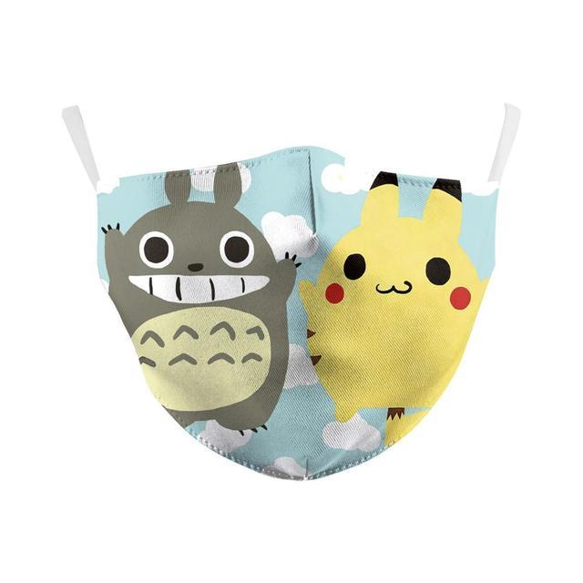 Pokemon Pikachu Tonari no Totoro Cosplay Face Mask Dustproof Adult Kids Masks 2