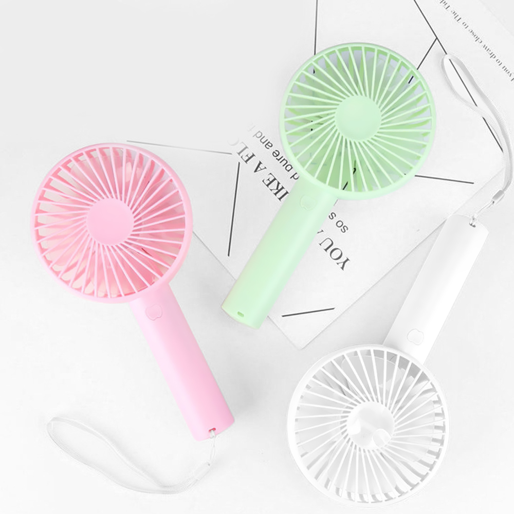 Summer Cooler Portable Fan Handheld Mini Fan USB Charging Desk Fans Rechargeable Adjustable 3 Speed For Office Outdoor Travel