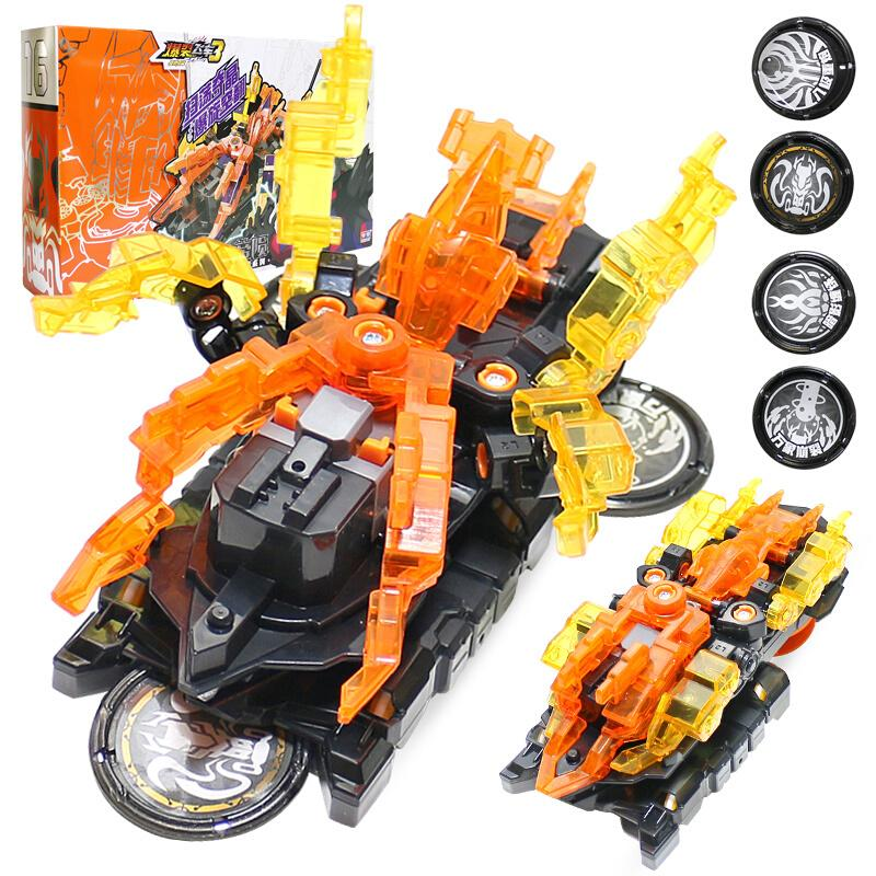 Newest Screechers Wild Multiple Chip Capture Wafer <font><b>360</b></font> degree Flipping Deformation Action Figures Transformation Car Vehicle Toy image