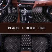 Custom car floor Foot mat For Mitsubishi ASX 308 Lancer Pajero Outlander Triton Eclipse waterproof carpet car inter accessories