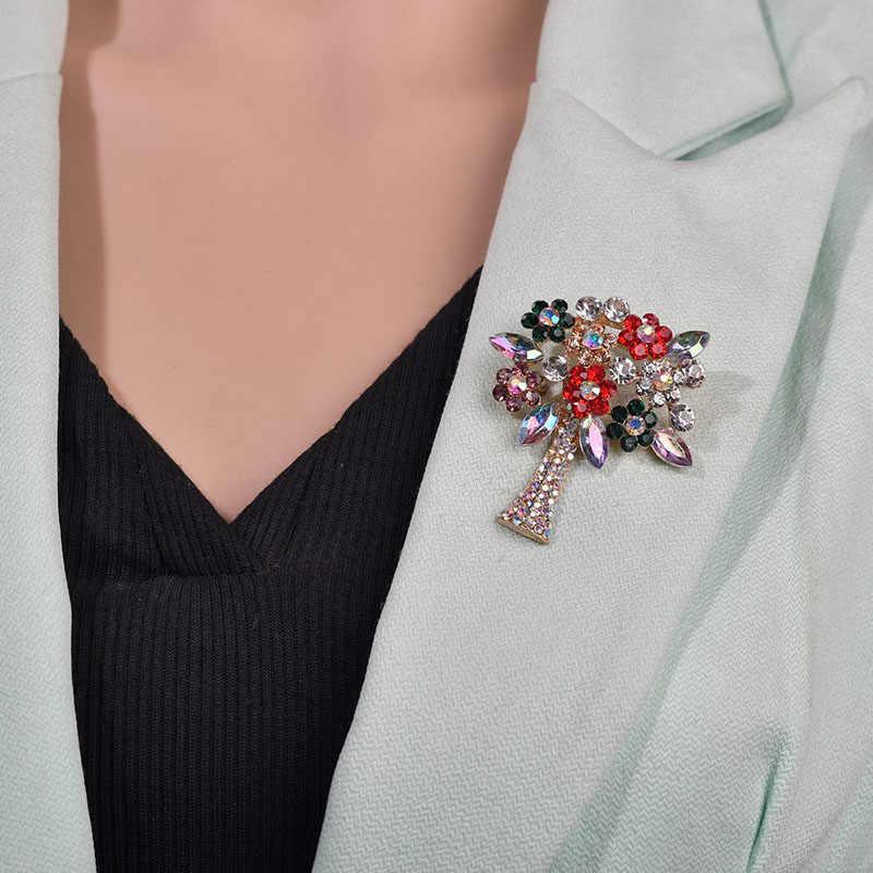 Modyle Vintage หินเข็มกลัดสำหรับผู้หญิงขนาดใหญ่ชุดเข็มกลัดแฟชั่นเครื่องประดับอุปกรณ์เสริมของขวัญ