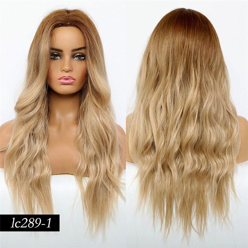 longo onda natural peruca parte do meio