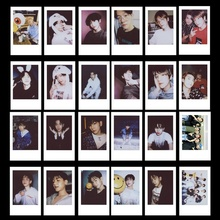 Kpop EXO Polaroid Photo Card Self Made Lomo Photocard Beakhyun CHANYEOL Sehun Photograph 10pcs