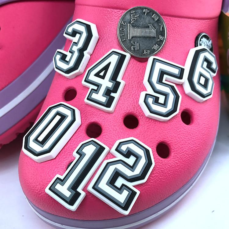 Original JIBZ Children's Gift Digit  Noctilucence Shoe Flower Toys Cartoon PVC Beach Shoe Accessories For Kids