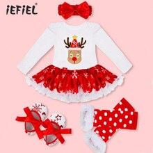 Одежда для новорожденных девочек; комбинезон; рождественские костюмы для маленьких девочек; Рождественский костюм Санта Клауса