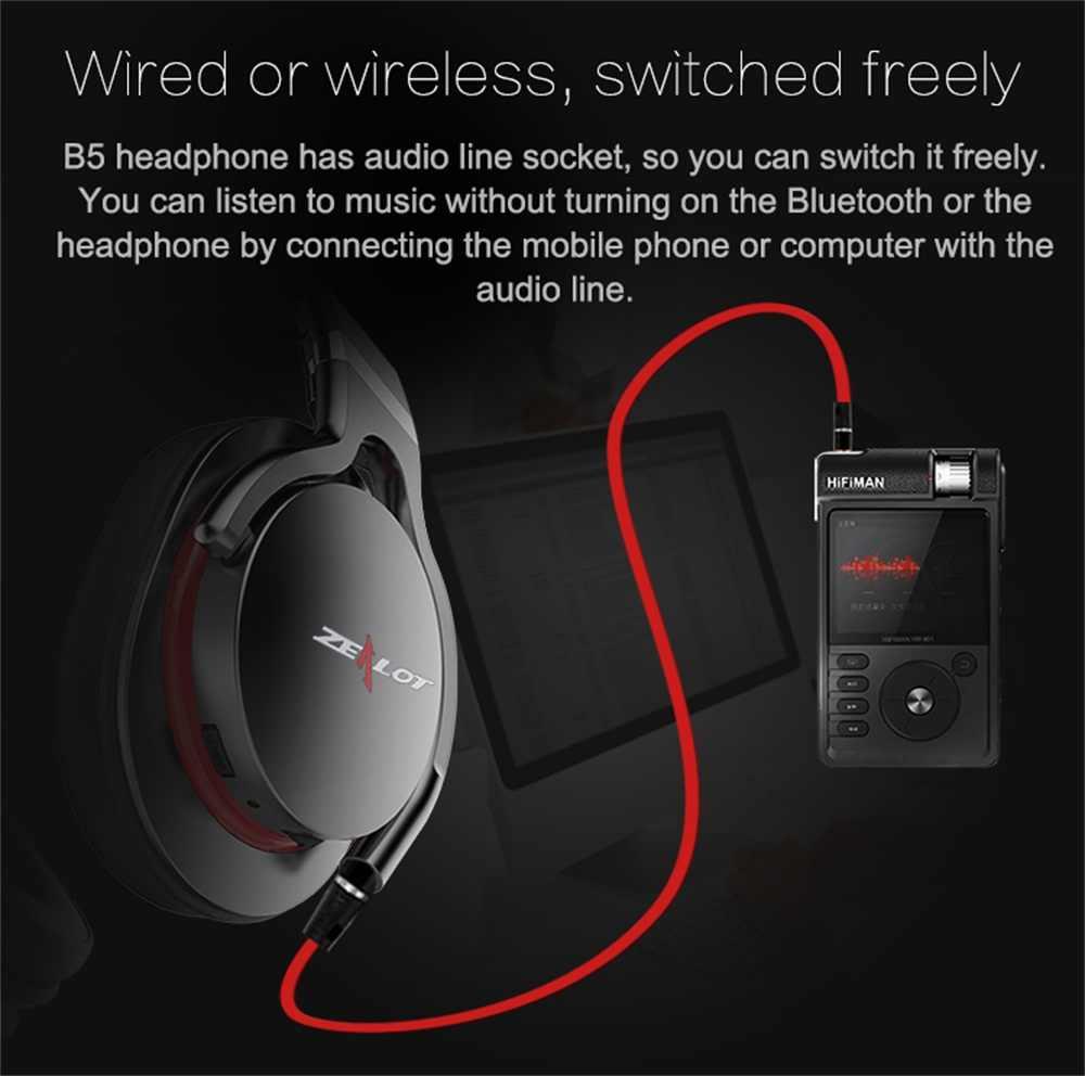 Gorliwy B5 słuchawki stereo na bluetooth słuchawki z mikrofonem bezprzewodowy zestaw słuchawkowy na ucho do telefonów komórkowych podstawka komputerowa karty TF