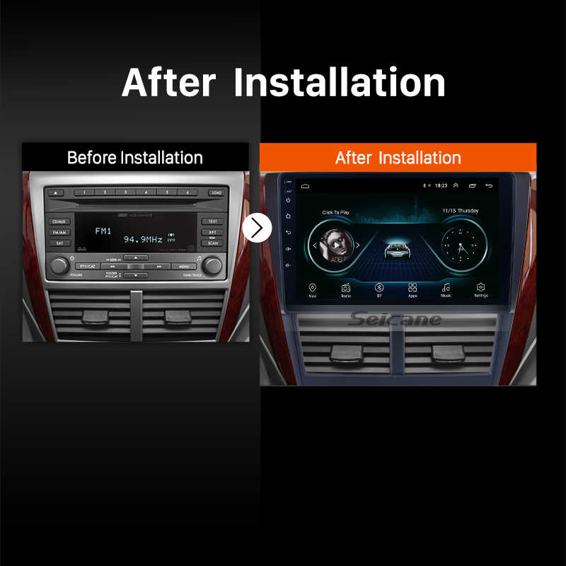 Seicane 9 אינץ 2din אנדרואיד 8.1 רכב רדיו עבור סובארו פורסטר 2008 2009 2010 2011 2012 ראש יחידת Wifi 3G מולטימדיה נגן GPS