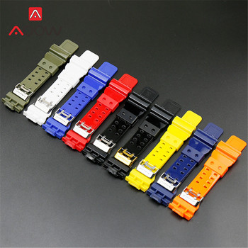 Resin Glossy Watchband for Casio G-Shock GD-120 100 GD-110 GA-100 GA-110 GA-120 GA-300 GA-400 GLS-100 Men's Strap Band Bracelet фото