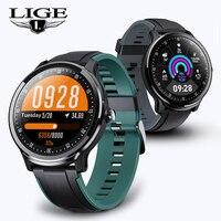2019 LIGE nowy inteligentny zegarek mężczyźni kobiety pełne tętno na ekranie dotykowym monitor ciśnienia krwi Sport fitness smartwatch dla androida IOS w Inteligentne zegarki od Elektronika użytkowa na