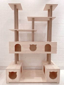 Solid Wood Cat Climbing Frame, Cat Litter, Sisal Cat Scratching Post, Cat Jumping Platform, Cat Toy, Pet Furniture