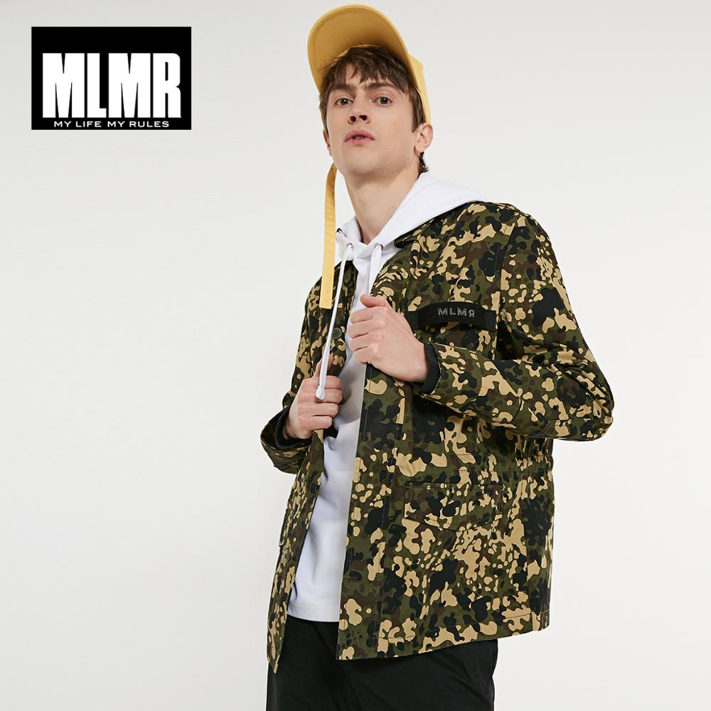 JackJones MLMR Men's 100% Cotton Stand-up Collar Drawstring Camouflage Short Jacket Streetwear| 219121585
