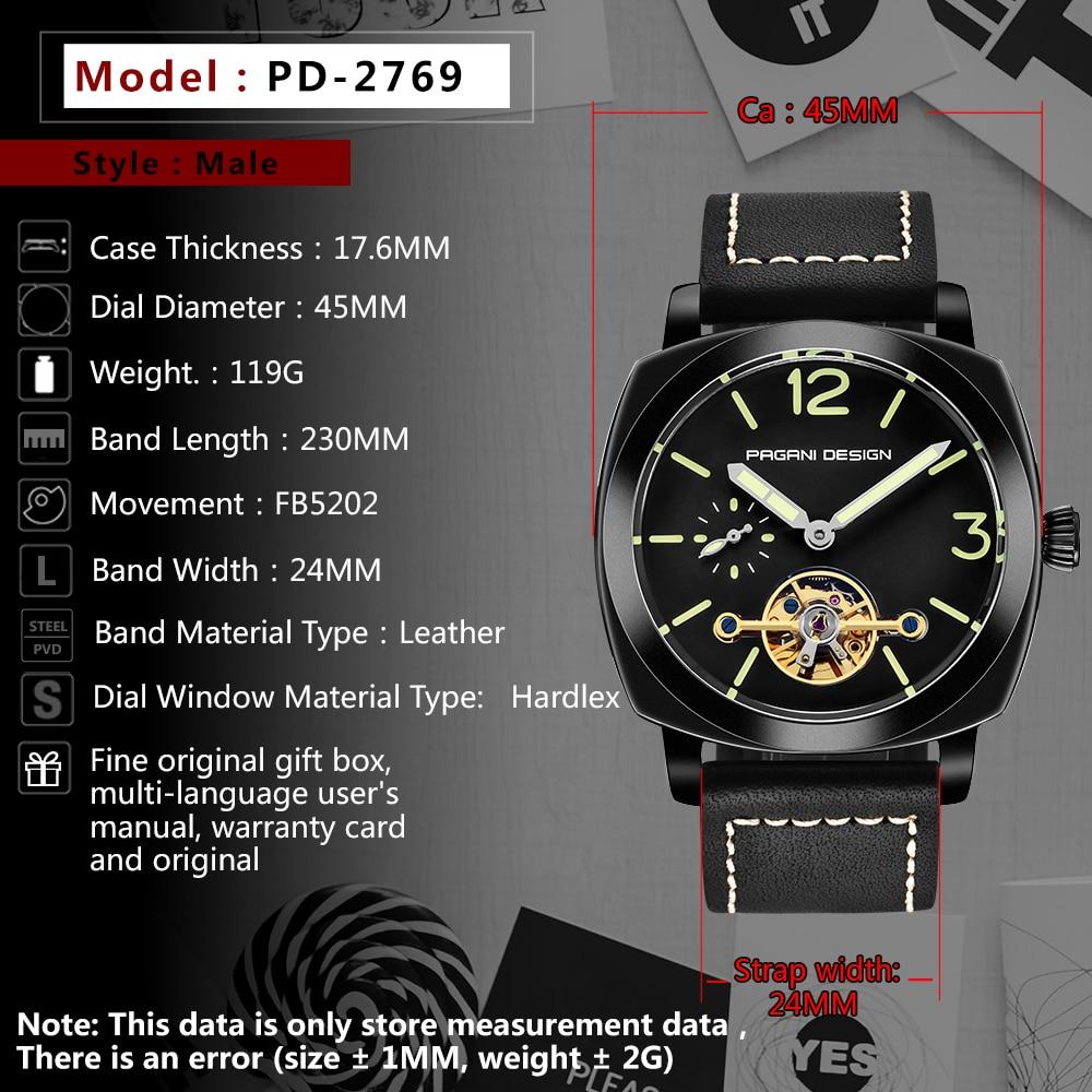 high quality PAGANI DESIGN Luxury Tourbillon Mechanical Watches Luminous Genuine Leather Fashion Casual Skeleton Automatic Watch free dropshipping 2020 (27)