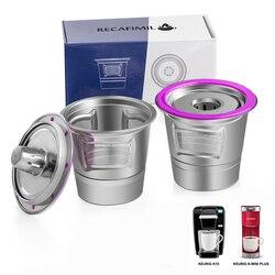 Stainless Steel Reusable K Cup Kopi Aksesoris untuk Keurig K Mini Plus K-Cafe k-Cafe K83 K-Latte, K45 Elit K-Klasik