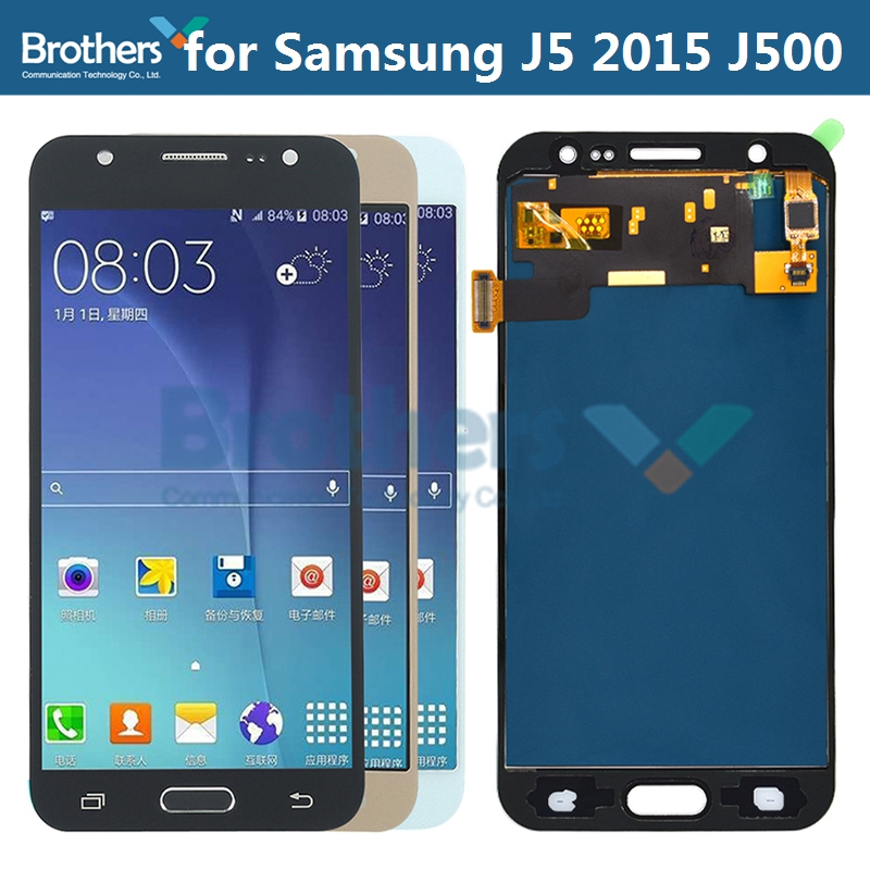 <font><b>AMOLED</b></font> For Samsung Galaxy J5 2015 LCD Screen LCD Display for Samsung <font><b>J500</b></font> J500F J500M LCD Assembly Touch Screen Digitizer Test image