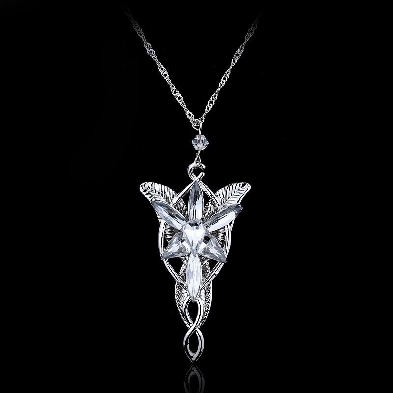 2019 Trendy Classic Lord of The Elf Princess Twilight Star Necklace Choker Chain Custom Rock Punk Crystal