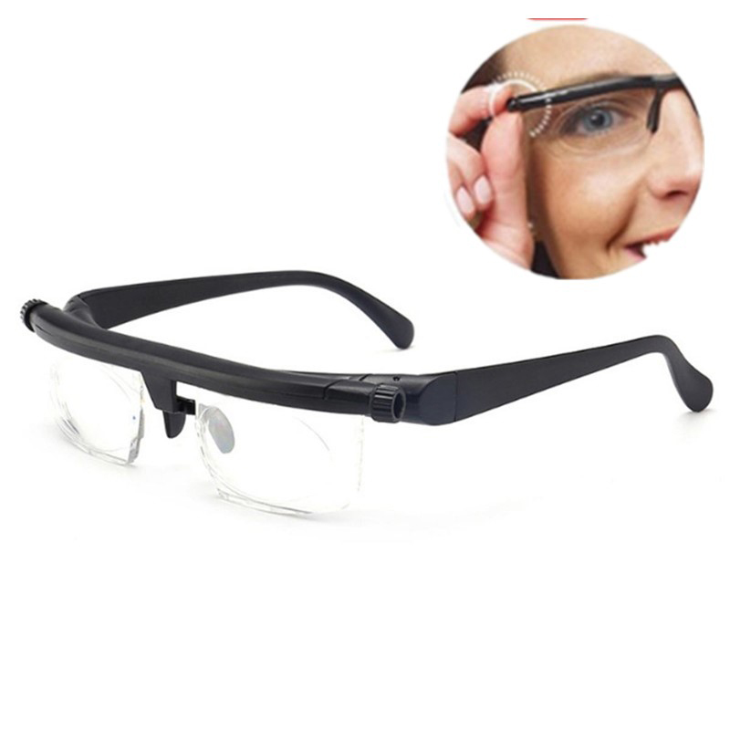 Men Women Reading Glasses Variable Vision Strength Glasses -6D To+3D Diopters Glasses Correction Binocular Focus Adjustable