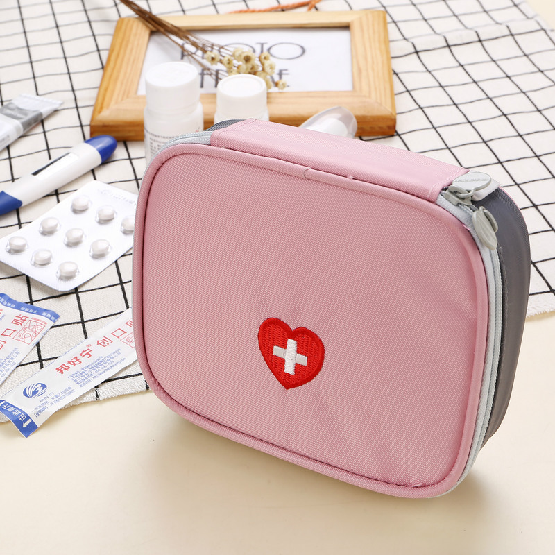 Portable Travel Medical Bag First-aid Kit Emergency Box Nylon Medicine Package Organizers Travel Drug Storage Pocket Rescue Case