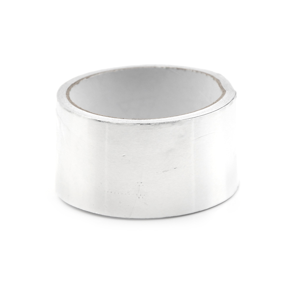 1 рулон термостойкая фольга клейкая лента Серебряная алюминиевая фольга клейкая уплотнительная лента термостойкая для ремонта воздуховод...