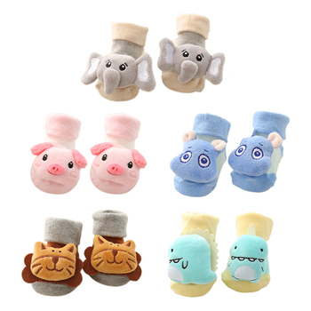 1Pair 0-2Y Infant Baby Socks Baby Socks With Bells For Girls Cotton Cute Newborn Boy Toddler Socks Baby Clothes Accessories image