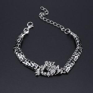 Image 4 - Ensemble de bijoux panthère léopard, Animal, en émail, cristal, strass, collier, boucles doreilles, Bracelet, ensemble de bijoux de fête pour femmes