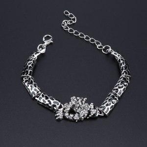 Image 4 - PANTERA Conjunto de joyería con diseño de leopardo para mujer, collar, pendientes, pulsera, anillo, cristales esmaltados, diamantes de imitación