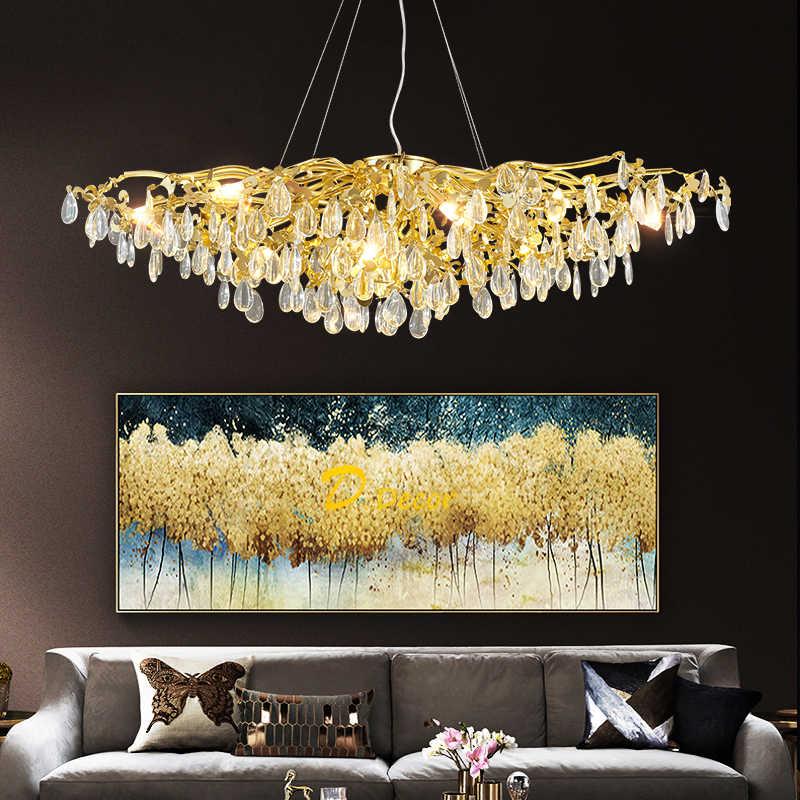 モダンなライト高級シャンデリア照明ledクリスタルシャンデリア装飾ライトロビーダイニングsv002237