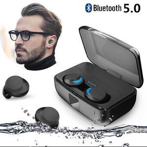 TWS True беспроводные Bluetooth V5.0 наушники, стерео наушники, гарнитура IPX8, водонепроницаемые спортивные наушники с зарядным устройством 3000 мАч