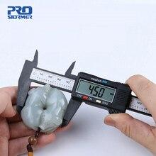 PROSTORMER 1 шт. измерительный инструмент 0-150mm 6 дюймов Пластик ЖК-дисплей цифровых электронных углеродного волокна штангенциркуль микрометр