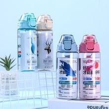 500ml butelka wody przenośne moje butelki dla kobiet dziewczyna odkryty Flamingo moda szczelna Cartoon H1179