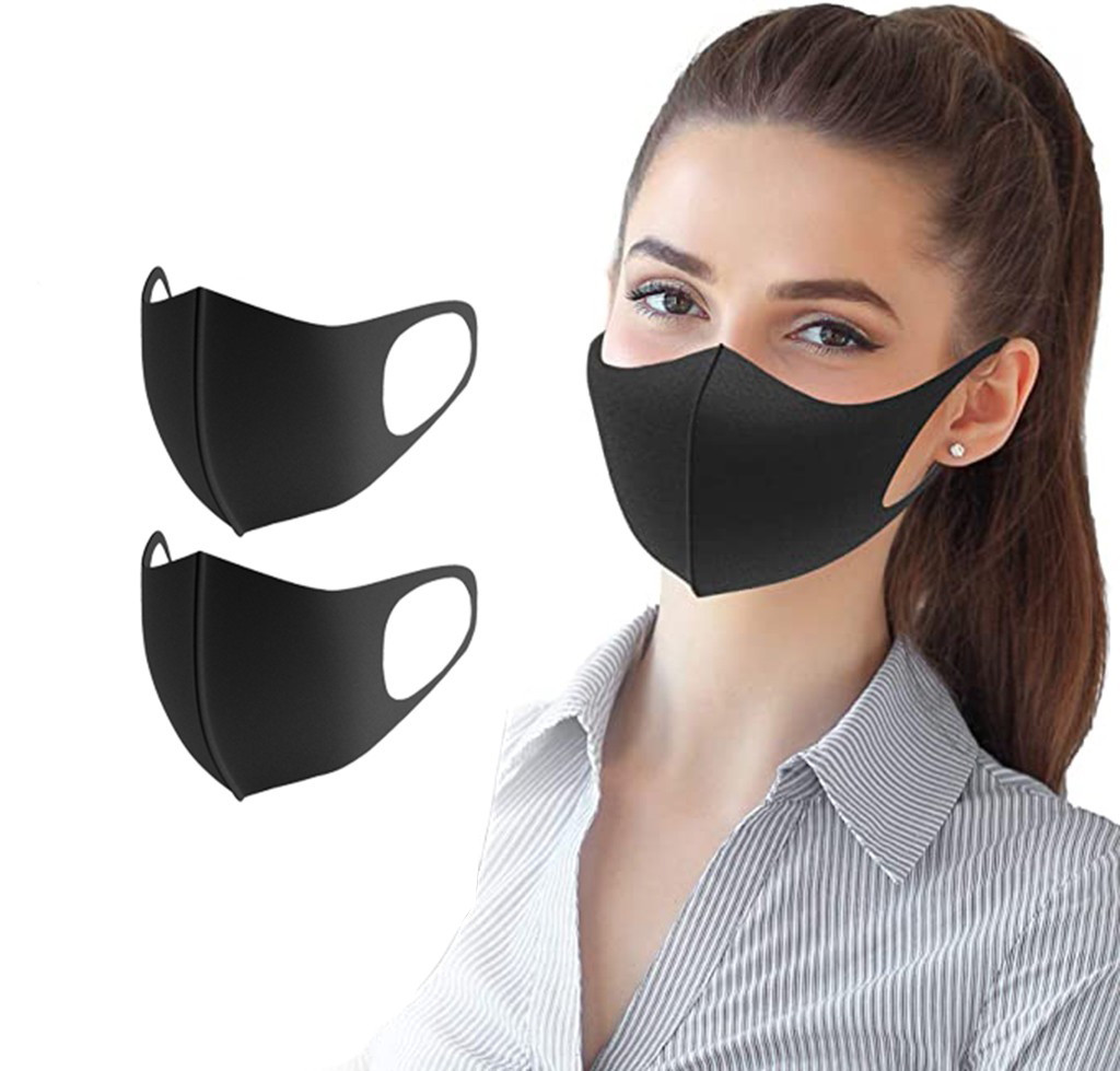 2 PC Men Women Safety Filter Anti-Dust Air Pollution Mouth Mask Dustproof Lightweight Face Shield Washable Reusable Face Mask