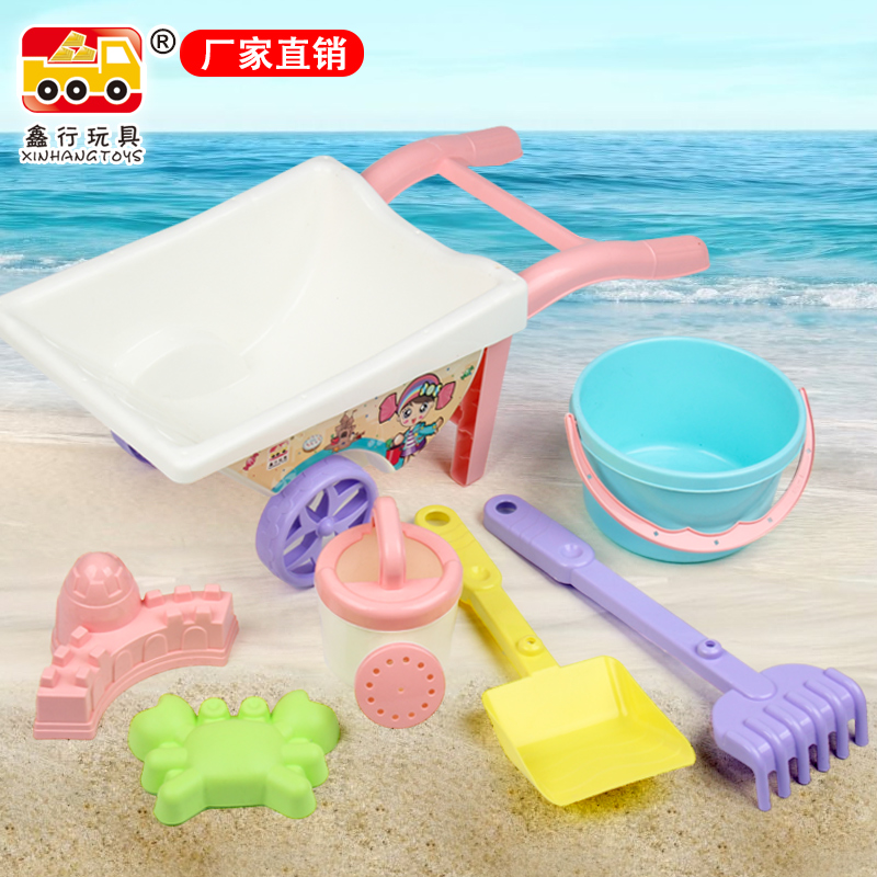 Beach Sand Children Toys For Outdoor Bathroom Beach Cart Games Bucket Beach Toy Set Carretilla Juguete Toys For Children CC50BT