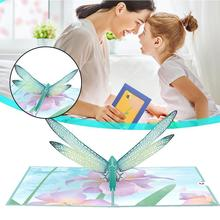 Mother's Dragonfly 3D Card Up Card Handmade Greeting Day Gifts Mother's Card Postcard Mom For Your Y3G8
