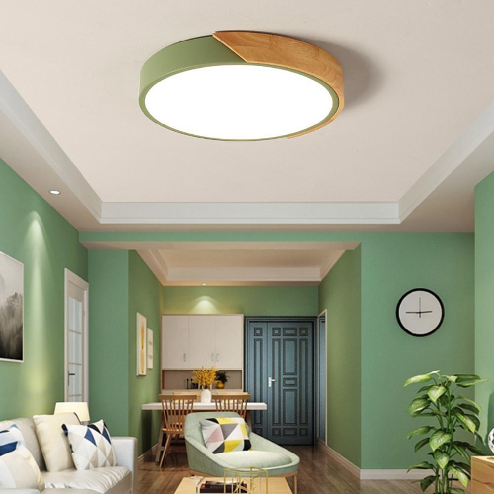 La lampe acrylique moderne de plafond de LED 18W 220V a monté les lumières de salon avec la fonction réglable à télécommande d'éclat