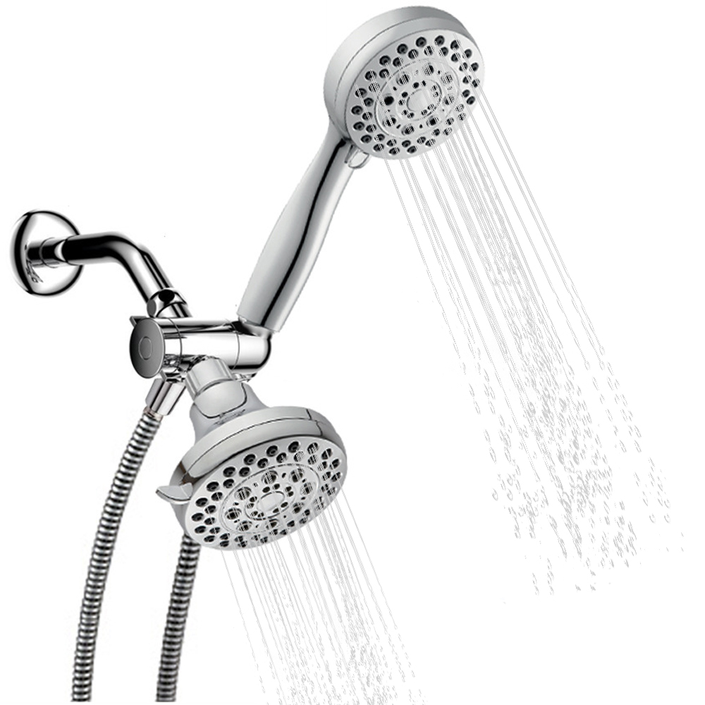 Handheld Shower Head Rain Showerhead Combo 5 Models Spray Dual