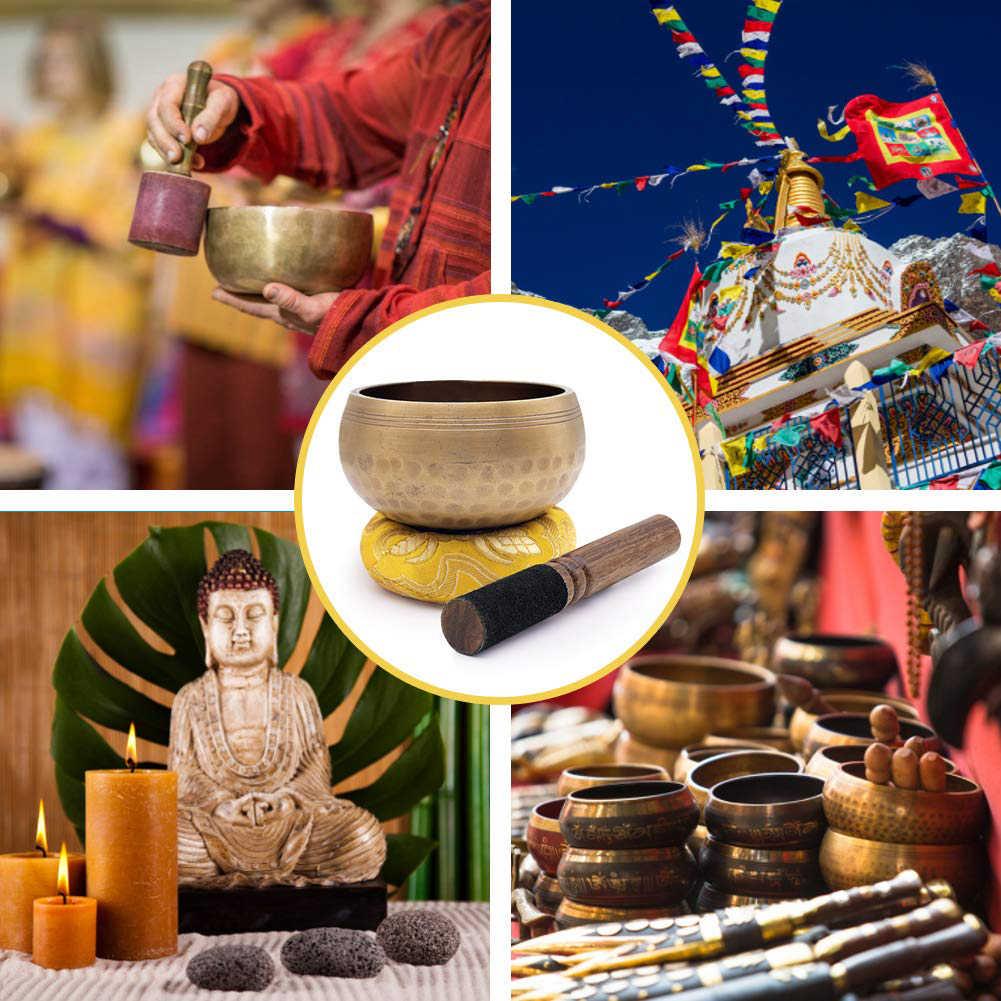 Klangschalen Meditation Schalen Meditation Gong Zen Yoga Schüssel Set mit Holz Sturm Verwendung für Buddhistische Drop Verschiffen