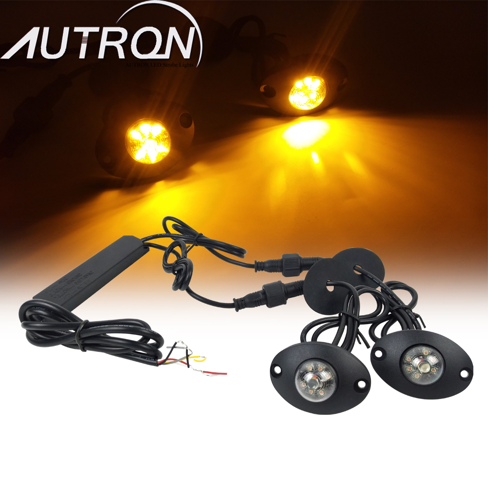12 W 12 LED Hide Away Emergency Patrol Truck Warning Car Flash Strobe Lights Amber Red White Green image