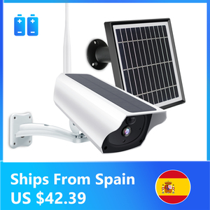 Image 1 - 1080P Solar IP Camera 2MP Wireless Wi fi Battery Security Surveillance Waterproof Outdoor Camera Two Way Audio Video Recorder