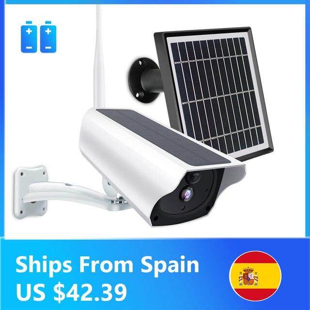 1080P ip камера на солнечной батарейке 2MP беспроводная Wi Fi батарея охранное Наблюдение Водонепроницаемая наружная камера двухстороннее аудио видео регистратор