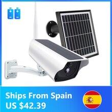 Caméra de Surveillance extérieure solaire IP wifi 2MP/1080P, dispositif de sécurité sans fil, étanche, avec batterie et enregistrement Audio bidirectionnel